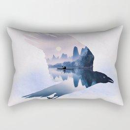 Crow Mystic River - I Rectangular Pillow