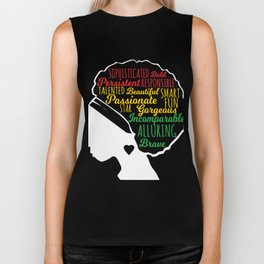 Black Beautiful Is In My DNA, Natural Afro Pride Ethnic Gift Biker Tank