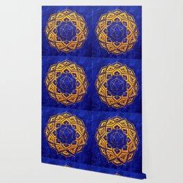 """Cosahedron, sacred geometry""  WATERCOLOR MANDALA (HAND PAINTED) BY ILSE QUEZADA Wallpaper"