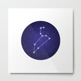 Leo zodiac constellation Metal Print