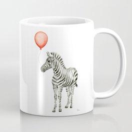 Baby Zebra with Red Balloon Coffee Mug