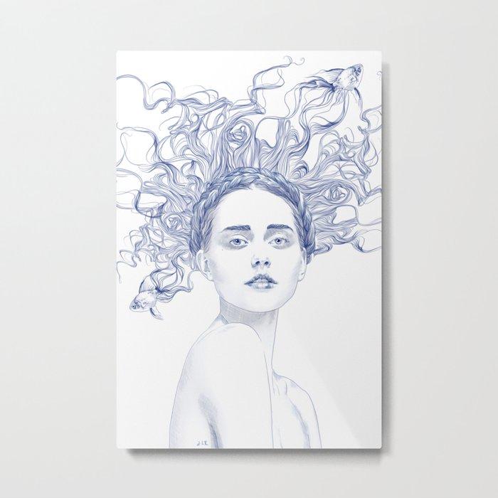 Blue Summer Metal Print