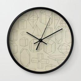 Geometric Crystals Wall Clock