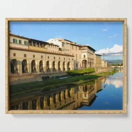 The Arno River - Florence Italy Serving Tray