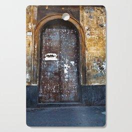 Old Sicilian door of Catania Cutting Board