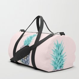 Pineapple with pastel background Duffle Bag