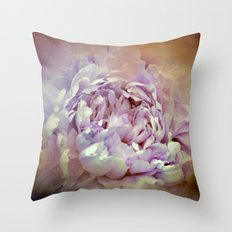 Blushing Lavender and Sand Wash Peony - Floral Throw Pillow