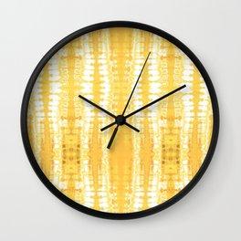 Shibori Itajime Table Yellow Wall Clock