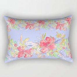 tropical hawaiian flowers periwinkle Rectangular Pillow