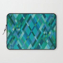 Blue Green Harlequin Pattern Laptop Sleeve