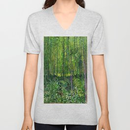 Vincent Van Gogh Trees & Underwood Unisex V-Neck