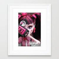 monster high Framed Art Prints featuring Draculaura Monster High Dolls MHSQ by Renée
