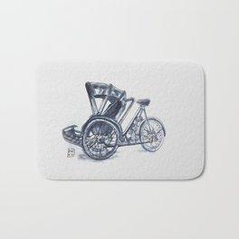 rickshaw bike Bath Mat