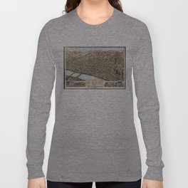 Vintage Pictorial Map of Springfield MA (1875) Long Sleeve T-shirt