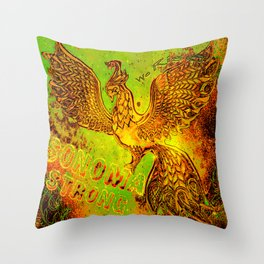 Sonoma Strong We Rise Limited Edition Green Yellow Red Phoenix Throw Pillow