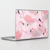 flamingo Laptop & iPad Skins featuring Flamingo Pattern by Georgiana Paraschiv