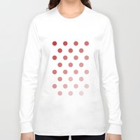 polka dots Long Sleeve T-shirts featuring Polka Dots by Silver Rain