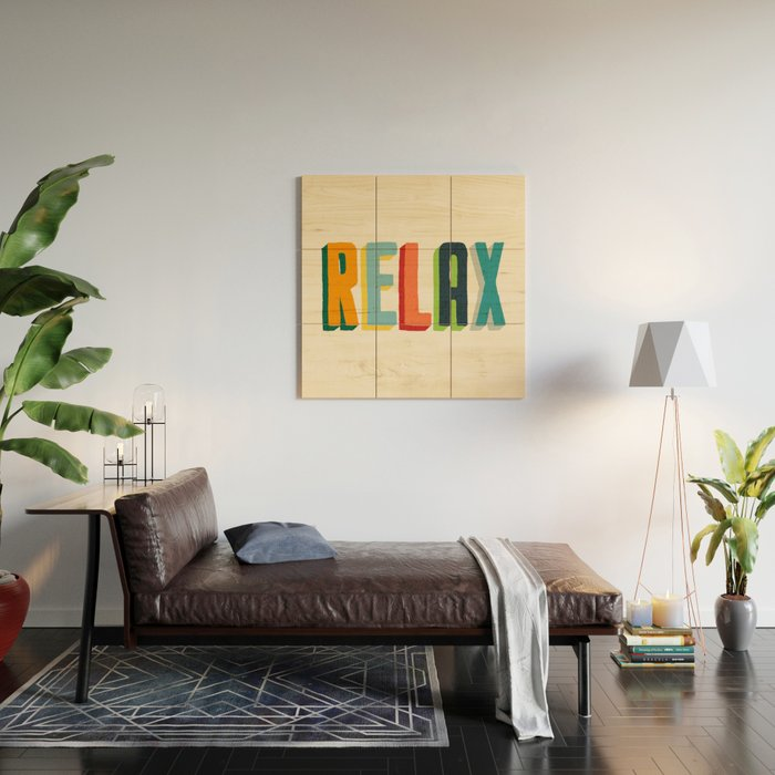 Relax Wood Wall Art