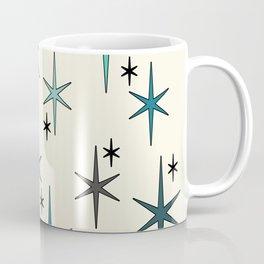 Mid Century Modern Star Sky Turquoise Coffee Mug