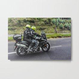 Motorcycles Riders at Avenue Metal Print