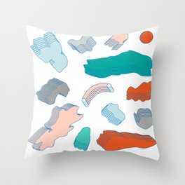 Día normal Throw Pillow