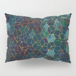 Organic Chemistry - Blue and Copper Pillow Sham