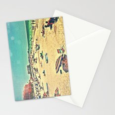 Beach Past and Present Stationery Cards