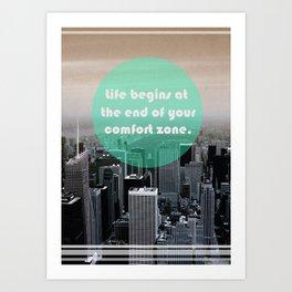 Life Begins  Art Print