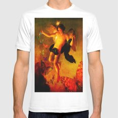 The angel sower of butterflies Mens Fitted Tee MEDIUM White