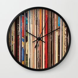 Alt Country Rock Records Wall Clock