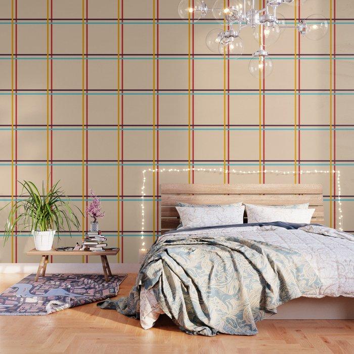 Berehynia - Minimal Colorful Stripes Wallpaper
