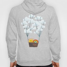 Hot cloud balloon - sun and rainbow Hoody