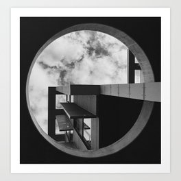 Abstract Apartment Building in San Francisco Art Print