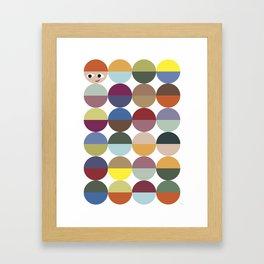 Cirkles Framed Art Print