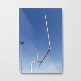 Football Goal Metal Print