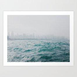Skyline Fog Art Print