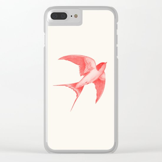 Barn Swallow (red) Clear iPhone Case