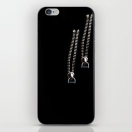 Gold Faux Zippers iPhone Skin