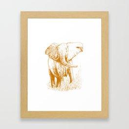 Elephant caramel Framed Art Print