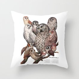 Owls of the Northeast Throw Pillow