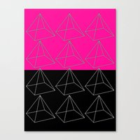pyramid Canvas Prints featuring Pyramid by Georgiana Paraschiv