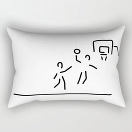 basketball usa basketball player Rectangular Pillow