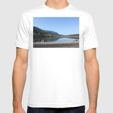 Rattle Snake Lake Mens Fitted Tee White MEDIUM