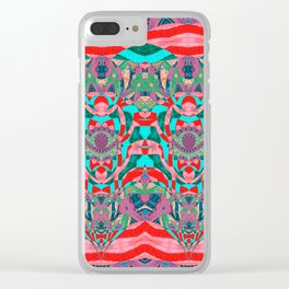 Shamanic Song Totem Knots Clear iPhone Case