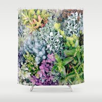 succulent Shower Curtains featuring Succulent by cwassmer