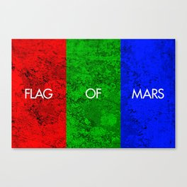 THE FLAG OF MARS Canvas Print