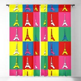 Pop art Paris Blackout Curtain