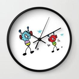 Happy Fluffs Wall Clock