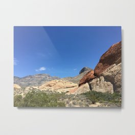 Many Layers of the Desert Metal Print