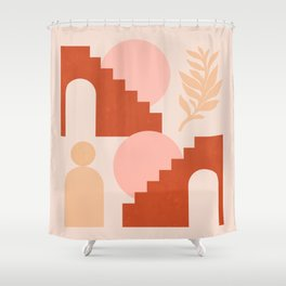 Abstraction_SHAPES_Architecture_Minimalism_003 Shower Curtain